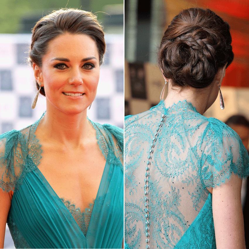 Duchess Catherines Hochsteckfrisur Make Up Frisur Hochgesteckt
