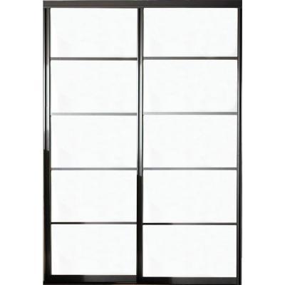 Contractors Wardrobe Silhouette 48 In X 81 In 5 Lite 2 Panel Aluminum Bronze Interior Bypa Sliding Doors Interior Contractors Wardrobe Sliding Wardrobe Doors