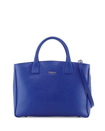 Camilla+Medium+Leather+Tote+Bag,+Blue+Laguna+by+Furla+at+Neiman+Marcus+Last+Call.