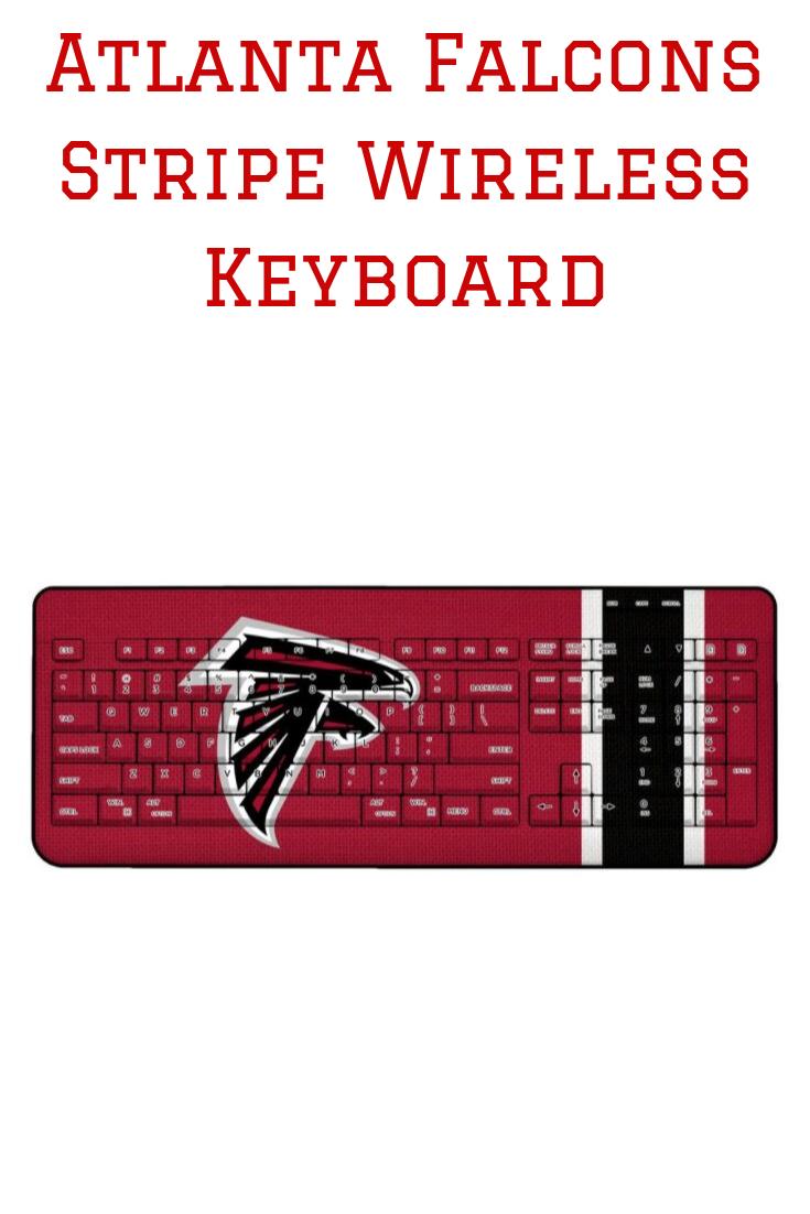 Atlanta Falcons Stripe Wireless Keyboard Led Indicator Atlanta Falcons Wireless