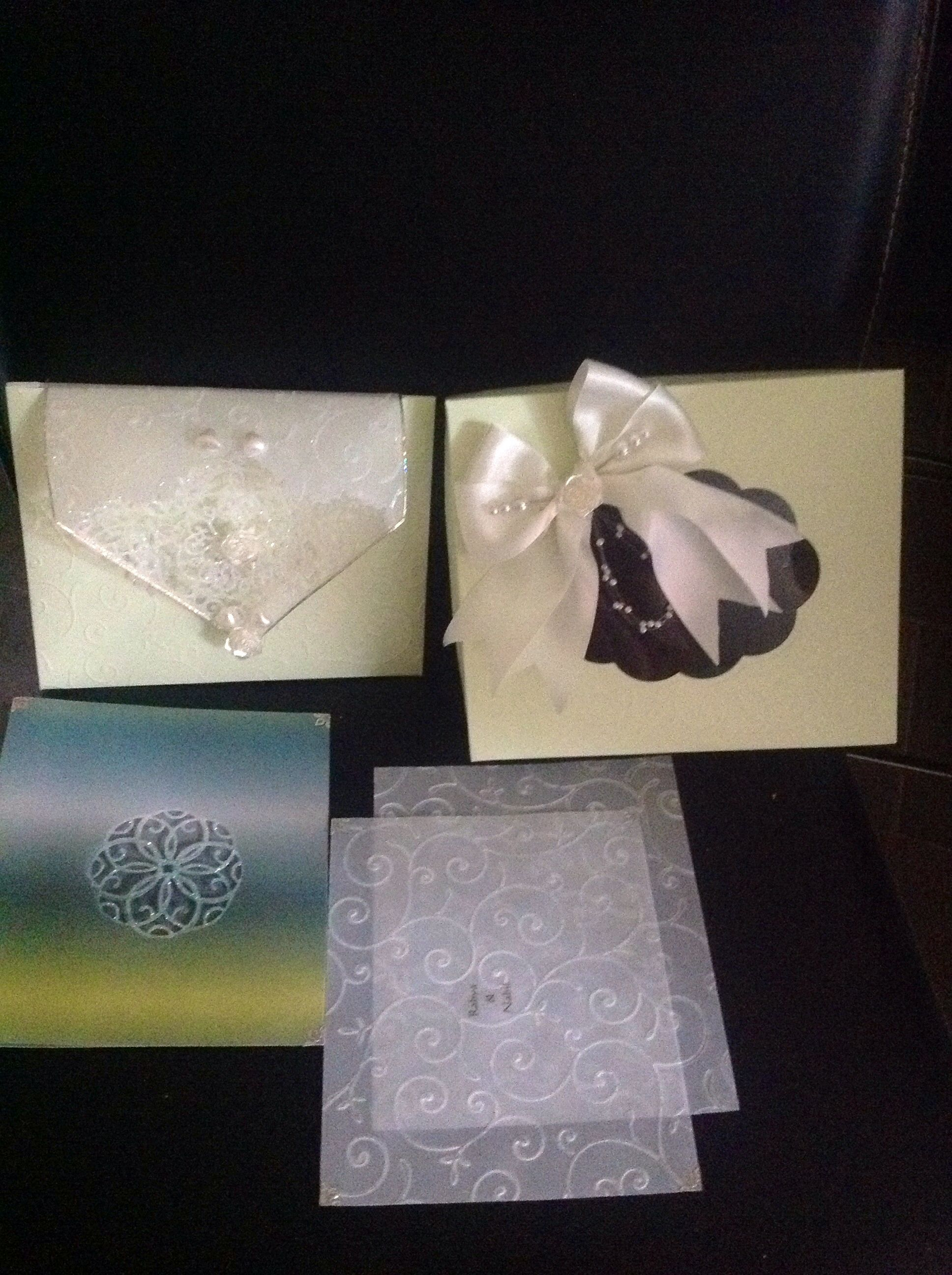 A Muslim Wedding Card With Box And Inside Card And Sheets For Gift