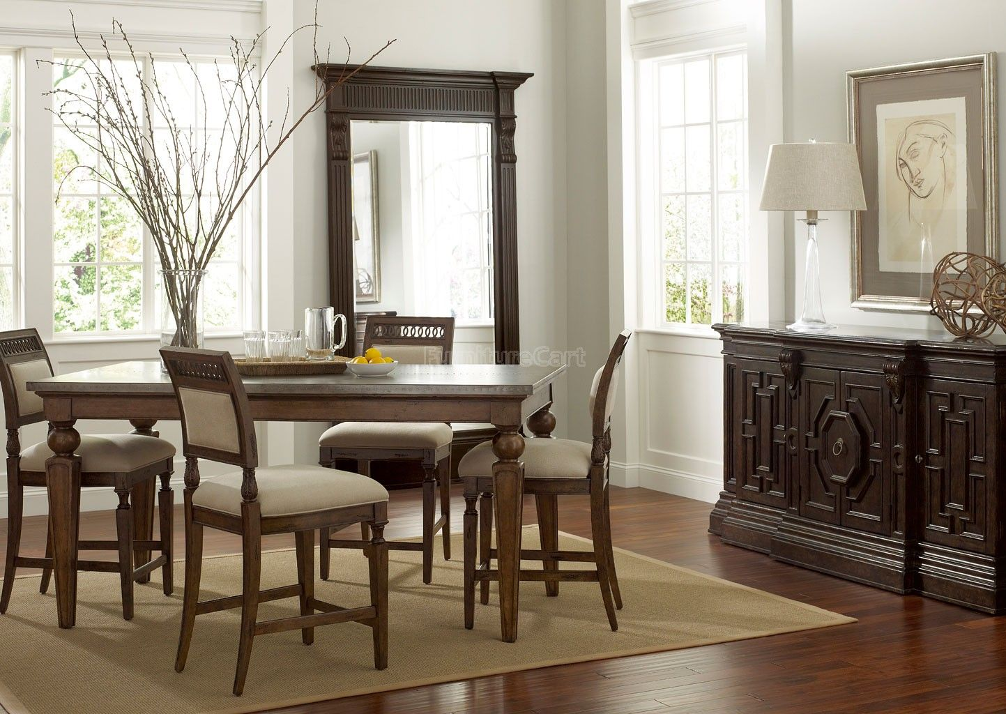 Eetkamer Set Outlet Collection One Three Rivers Dining Room Set Chestnut In 2018