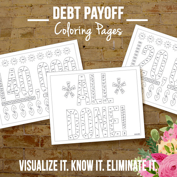 Financial Organizer Debt Payoff Coloring Pages Debt Payoff
