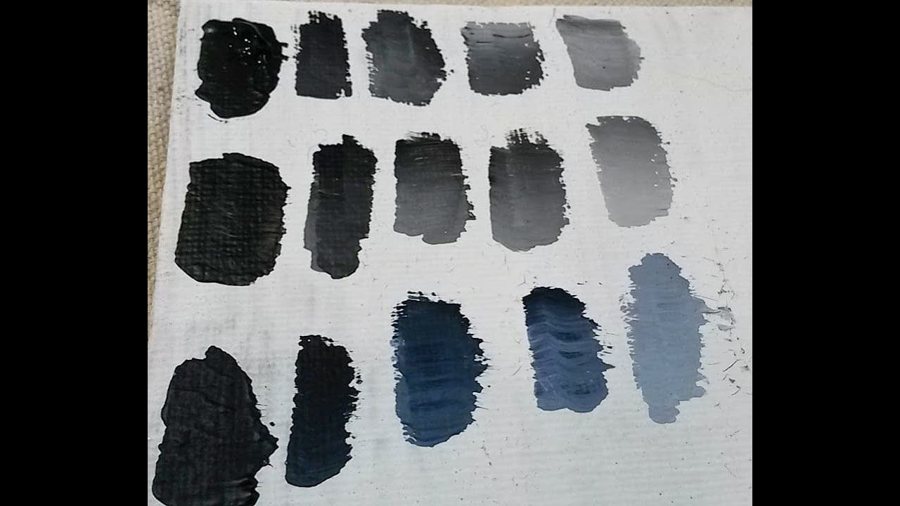 Comparing Black Paints Mars Black Vs Ivory Black Vs Payne S Grey