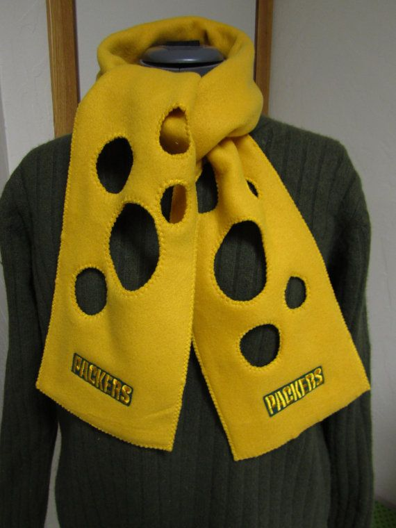 Green Bay Packers Fleece Cheese Head Scarf | Packers ...