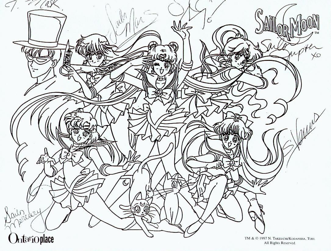 Free Sailor Moon Tuxedo Mask Coloring Pages