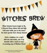Share a seasonal smile with Witches Brew!  Free printable gift tags make it easy to craft and share.