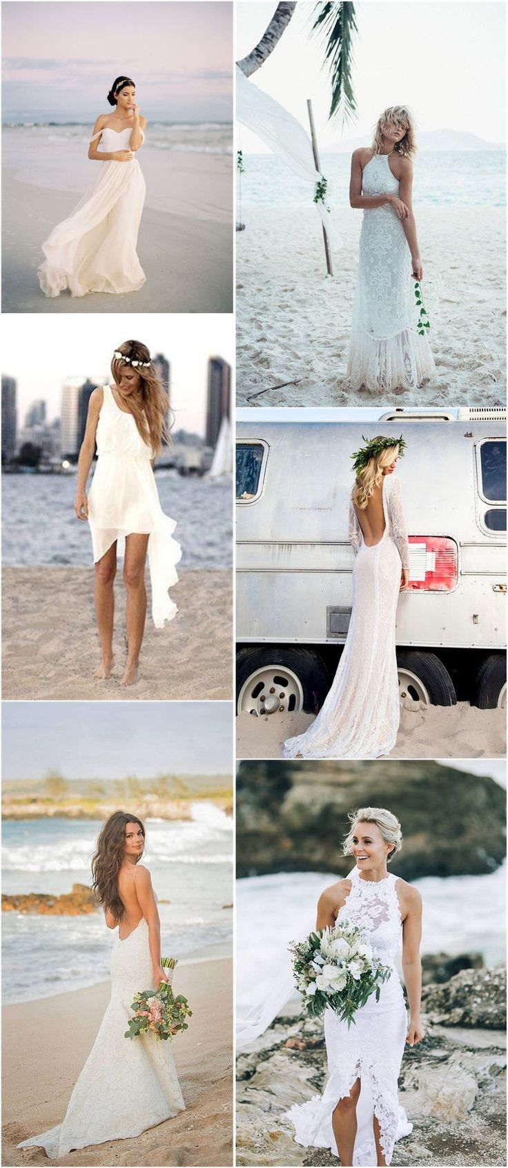 Beach wedding dresses top strand brautkleider ideen sie zu