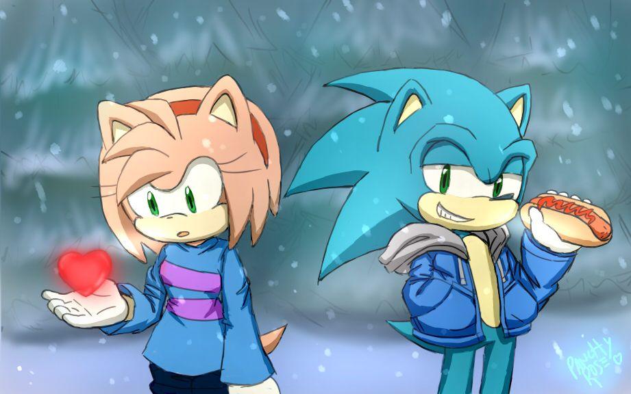 UT sonamy (? by PanchyRose on DeviantArt | Sonic fan ...