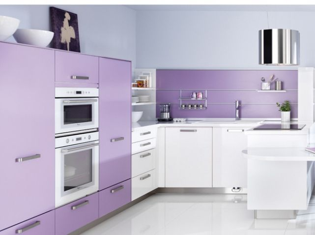Cuisine couleur lilas schmidt d co sweet pinterest for Couleur cuisine schmidt