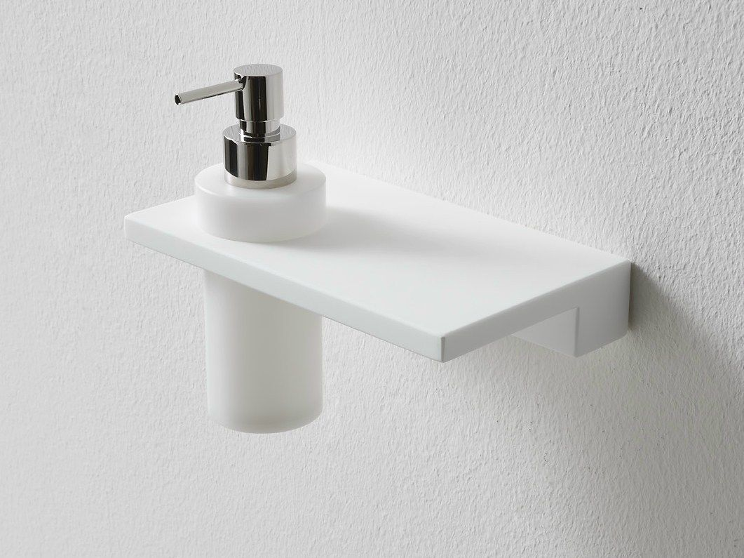 Wall Mounted Korakril Bathroom Shelf Liquid Soap Dispenser Minimal Collection By