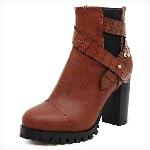 Women's Round Closed Toe Low Heels Soft Material Low-top Solid Boots