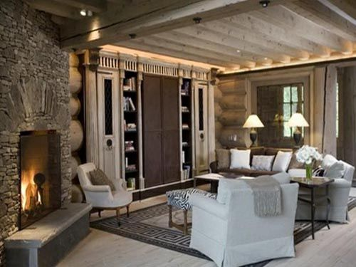 Superbe I Found This At Lavish European Style Home Interior Design Ideas. I Could  Live In A Log Cabin Like This.
