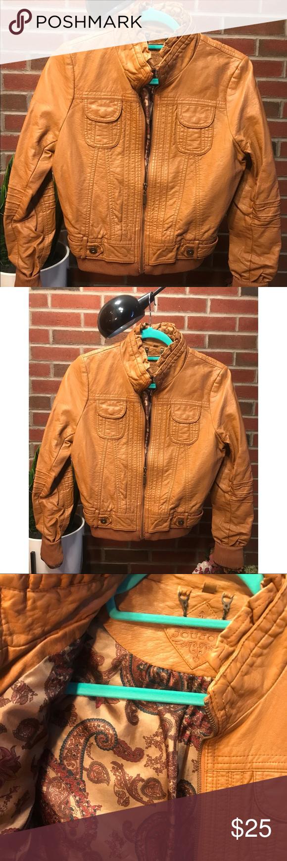 Vegan Leather Bomber Jacket Leather bomber jacket