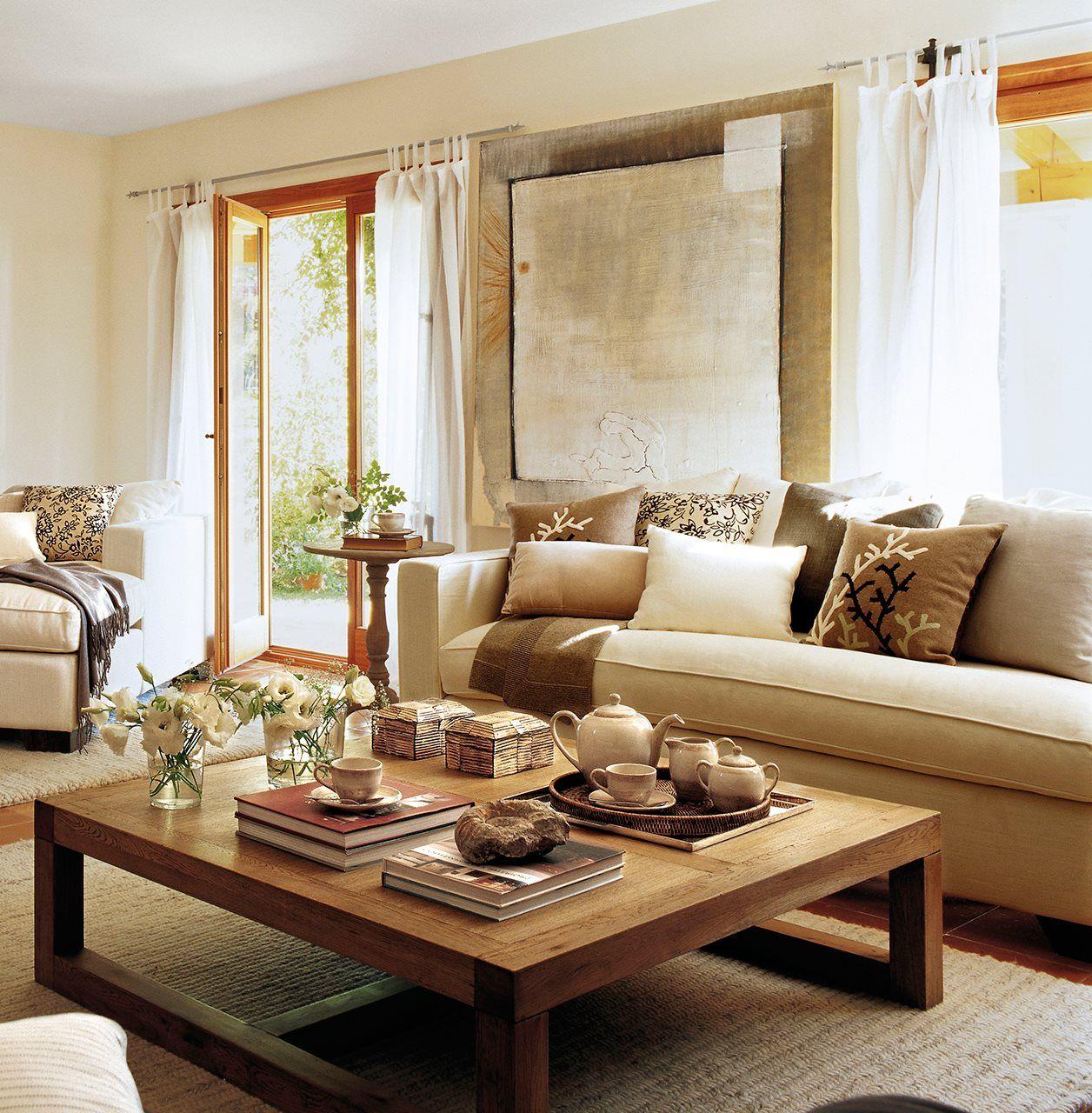 15 mesas de centro que ayudan a organizar el saln  ElMueble.com  Salones   Living Room IdeasLiving ...