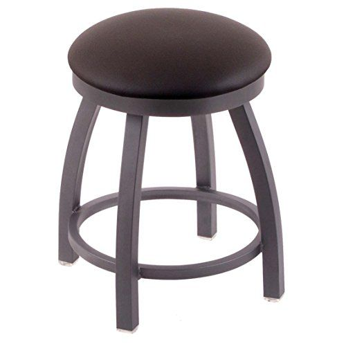 holland bar stool co 802 misha vanity stool with pewter finish and