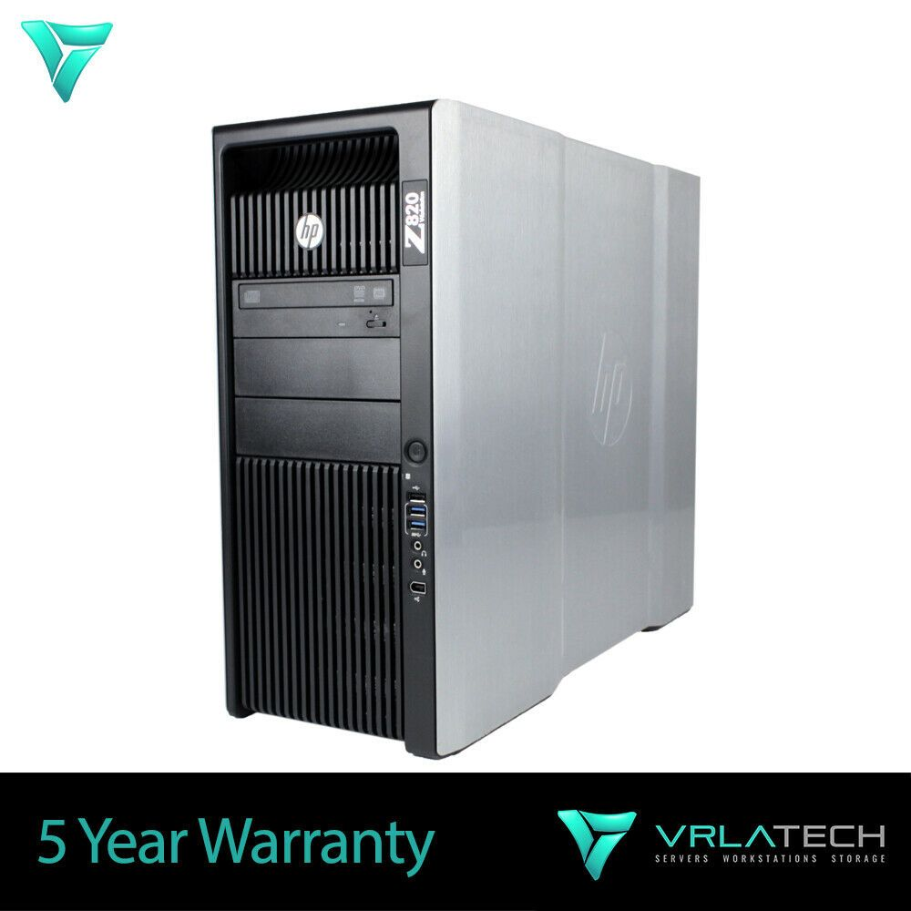HP Z820 Workstation 128GB RAM E5-2690 2x 2TB & 1x 256GB PCIe