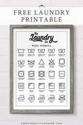 Free printable laundry symbols wall art  Check out this free printable laundry symbols wall art designed to fit in perfectly with farmhouse decor! Decorate your laundry with this practical poster and avoid mistakes associated with unfamiliar laundry symbols (no more shrunken woollens!). This free laundry printable comes in a range of sizes including A3, A4, 8 x 10, 16 x 20 and Letter. #freeprintable     This image has get 4 repins.    Aut... #art #Free #Laundry #Printable #symbols #wall #laundrysigns