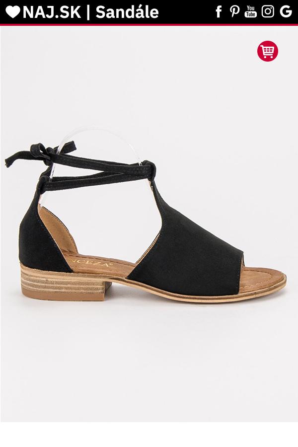 f0f4e8bbee9b1 Čierne sandále VINCEZA v roku 2019 | Sandále - NAJ.SK | Shoes ...