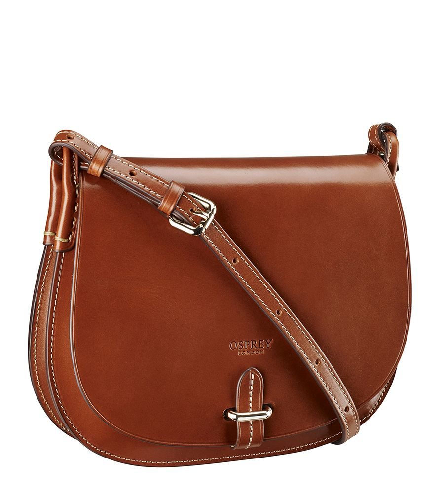 Osprey mens leather gloves - Osprey London The Chester Italian Polished Hide Cross Body Handstitched In Rich Tan