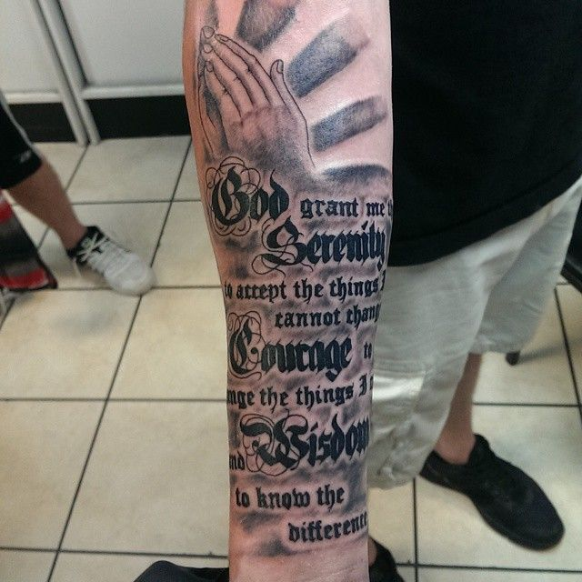 Pin On Prayer Tattoo