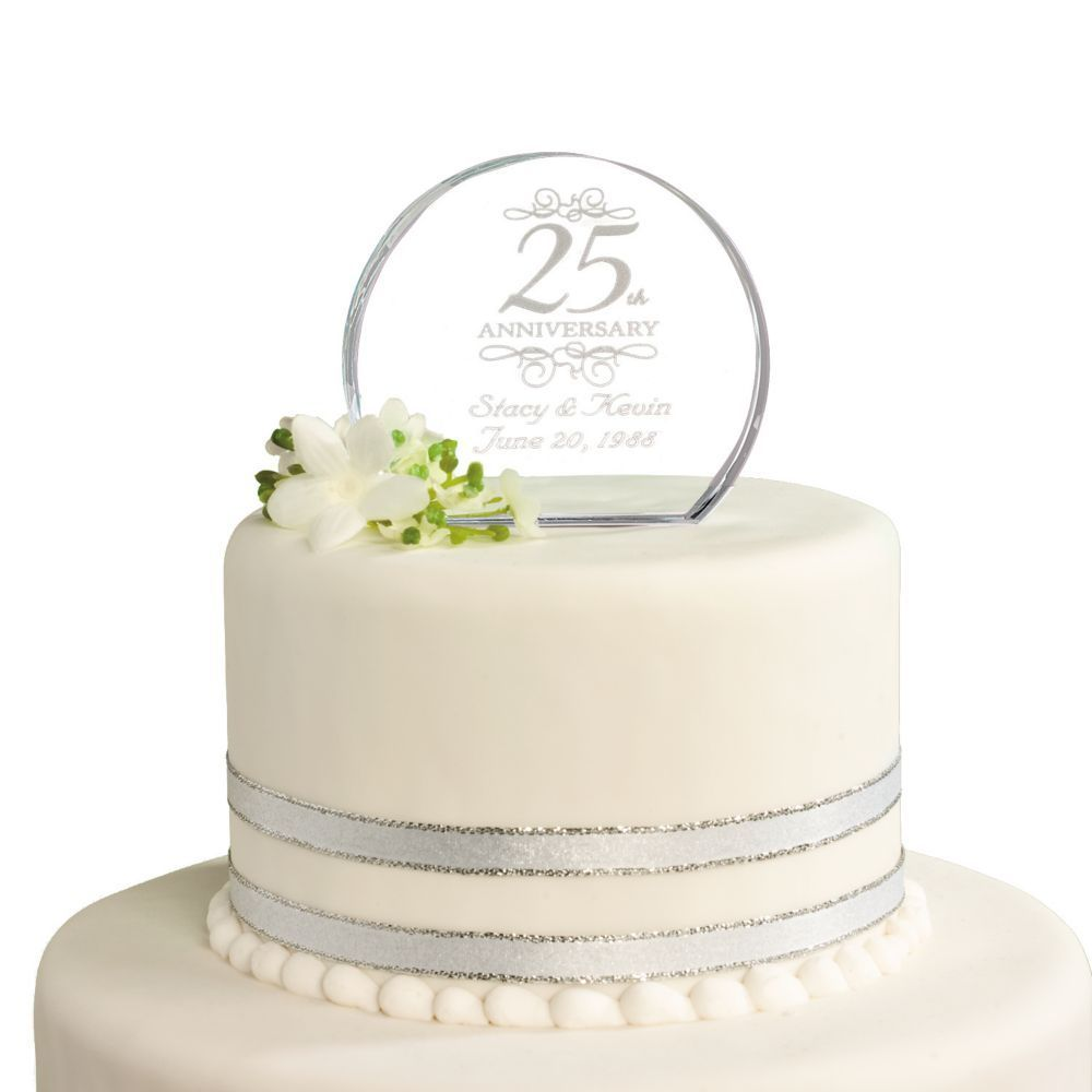 Personalized 25th Anniversary Cake Topper
