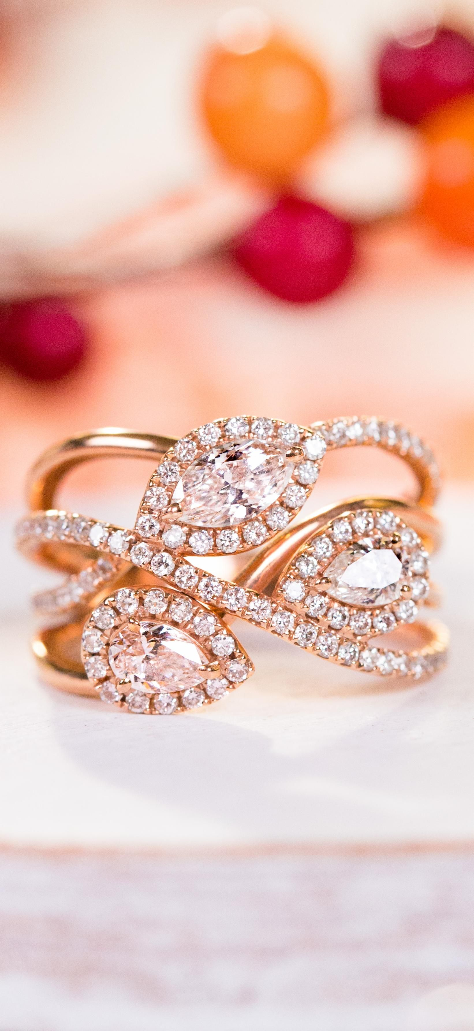"It s time to ""fall"" in love with the rose gold Three Stone Fashion"