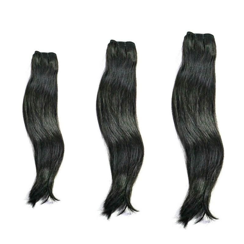 Vietnamese Silky Straight deals offer (3) bundles per package. The silky straight bundles are true to length with the ability to color and style. Maintenance is simple and silky straight is perfect for a bob or long lengths up to 30″ in a bundle deal. Lengths: 10