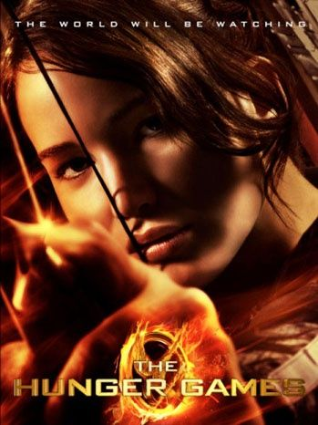 "The final poster of ""The Hunger Games"" with Jennifer Lawrence as Katniss Everdeen. The movie's out in March!"
