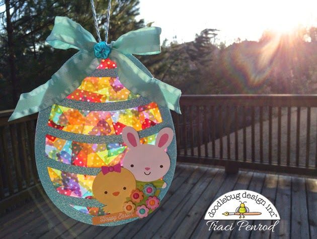 Artsy Albums Scrapbooking Kits and Custom Designed Scrapbook Albums by Traci Penrod: Washi Tape Easter Suncatcher Tutorial