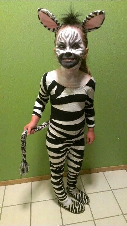 Zebra Kostum Selber Machen Diy Anleitung Madagascar Pinterest