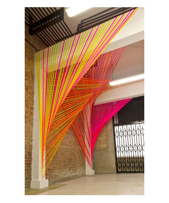 Wow!! Room divider. Neon string installation by Megan Geckler ...