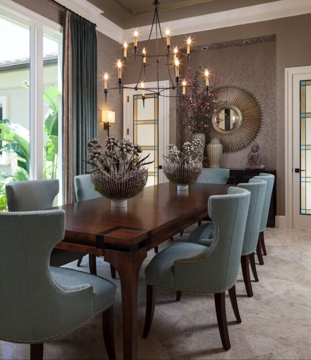 Grey And Blue Dining Room Furniture Dining Room Design Interior