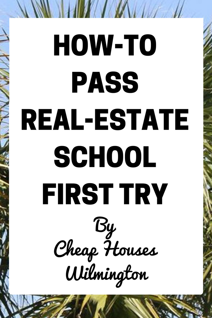 real estate school is not like going to college you don t go to