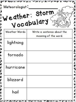 Weather Seasons Literacy Math Mini Unit Freebies In The