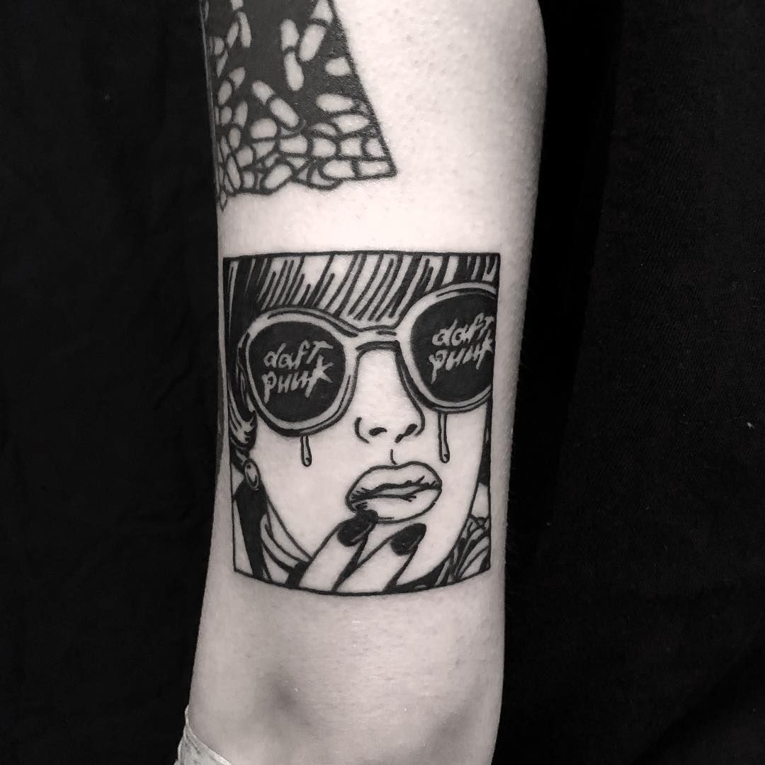 Daft Punk tattoo | Punk tattoo, Tattoos, Daft punk