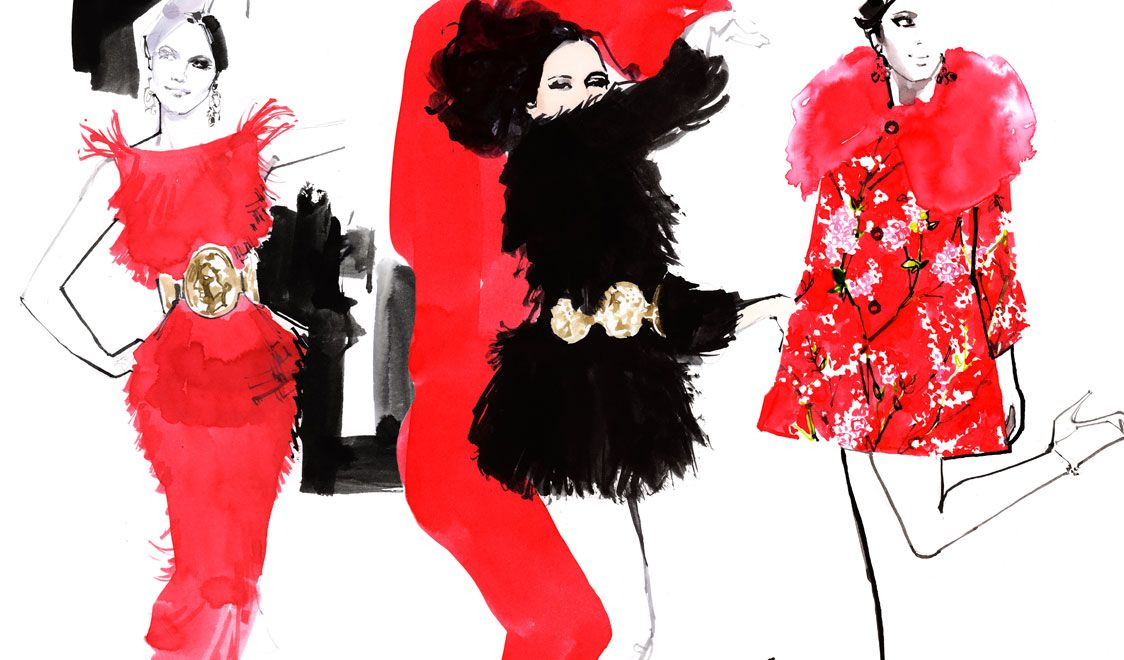Fashion Illustrations for Dolce and Gabbana Spring Summer 2014 by Marc-Antoine Coulon interview