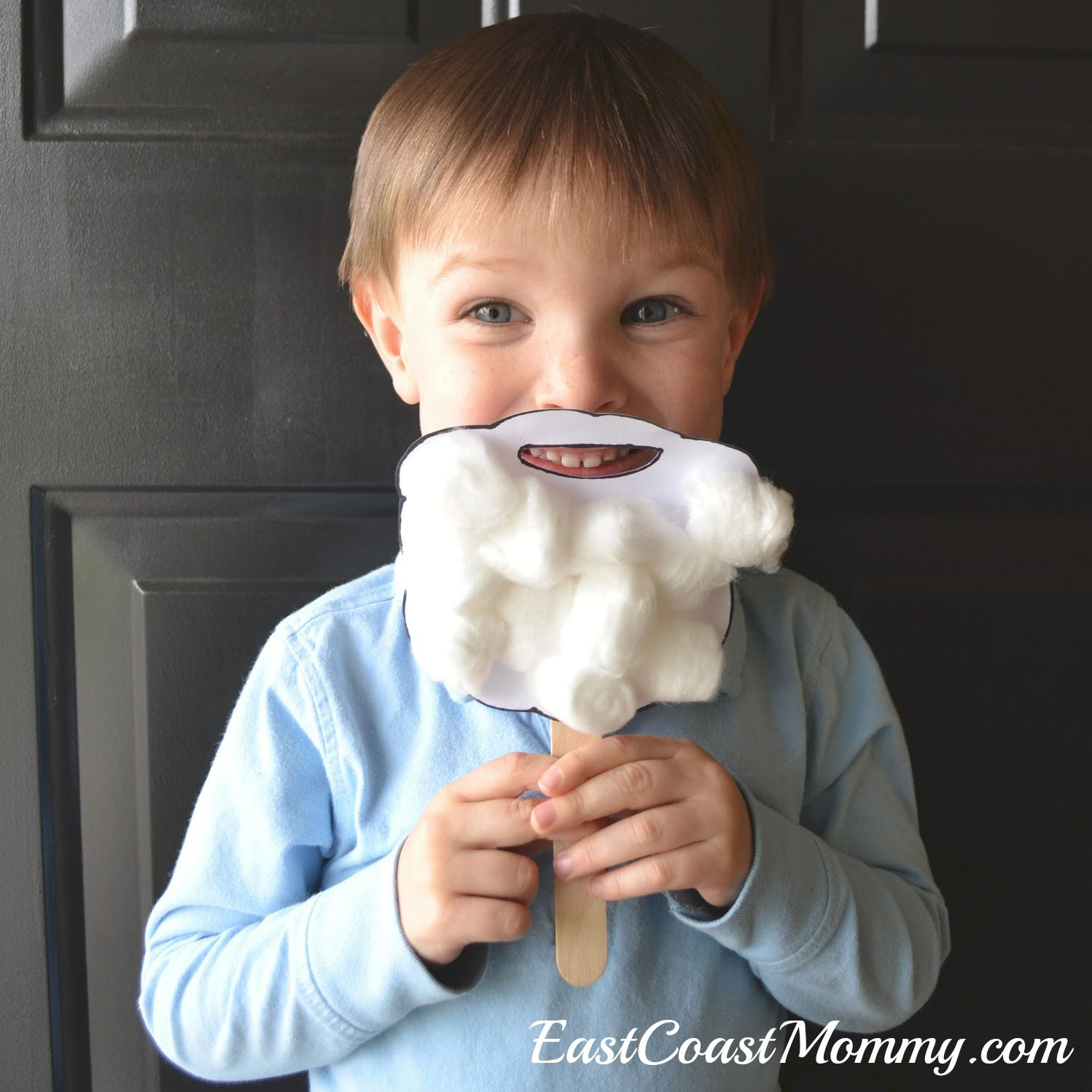 Santa Beard with printable template from East Coast Mommy