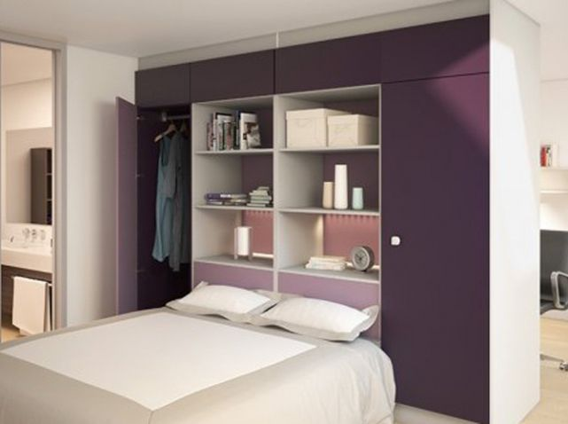 15 id es de dressings pour un petit appartement dressing for Chambre 9m2 ikea