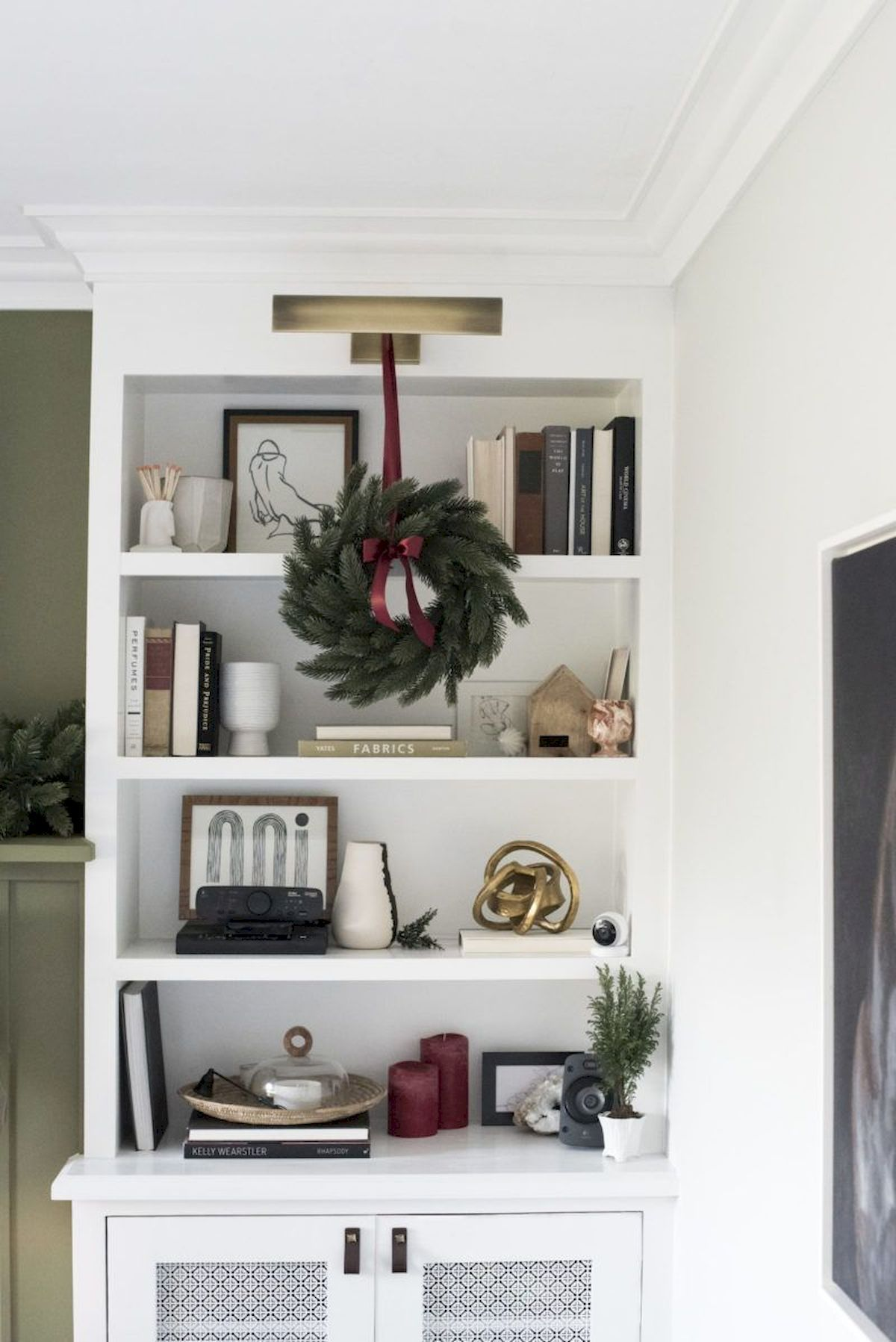 Christmas Bookshelves Decoration Ideas Book Shelves