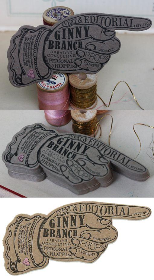 Vintage Styled Letterpress Die Cut Business Card Design