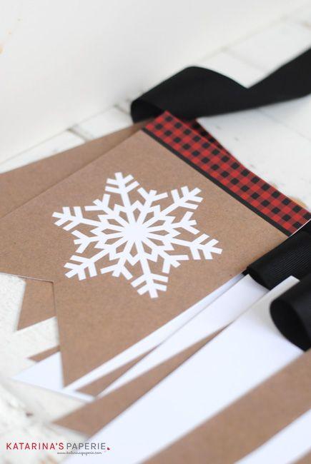 Free printable Let It Snow bunting