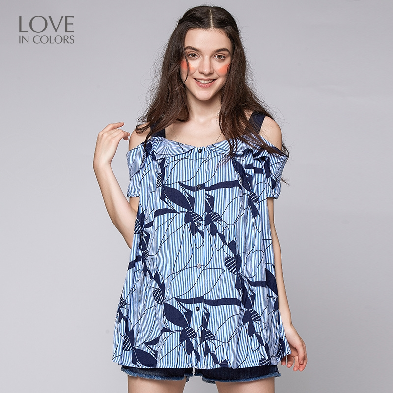 29.55$  Watch here - http://ali8cb.shopchina.info/go.php?t=32805344965 - Loveincolors Pregnancy Women Tees Strapless Summer Sexy Soft Comfortable Maternity Women Stripe Loose Casual Clothes  #magazineonlinebeautiful