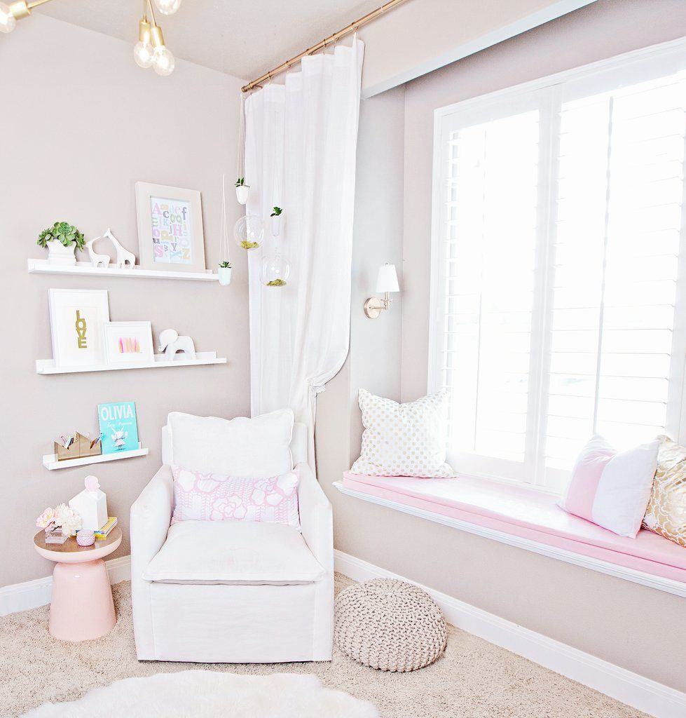 Pink Bedroom Chair Pink Bedroom With Nursing Chair Bay Window Seat Kids Room