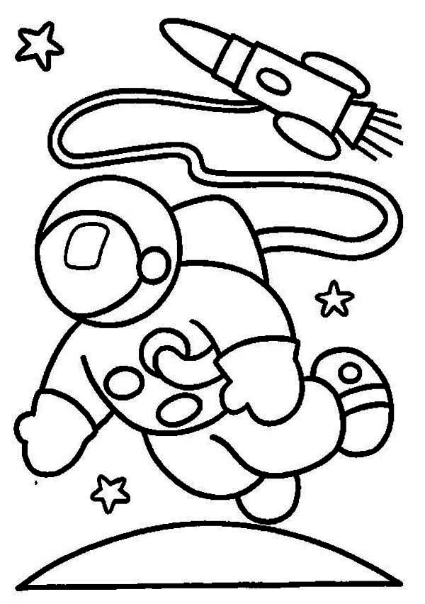 An Astronaut In The Moon Orbit Coloring Page Download Print Online Coloring Pages For Fr Space Coloring Pages Online Coloring Pages Coloring Pages To Print