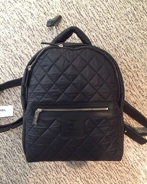 a7622417ea31 Chanel Black Coco Cocoon Backpack