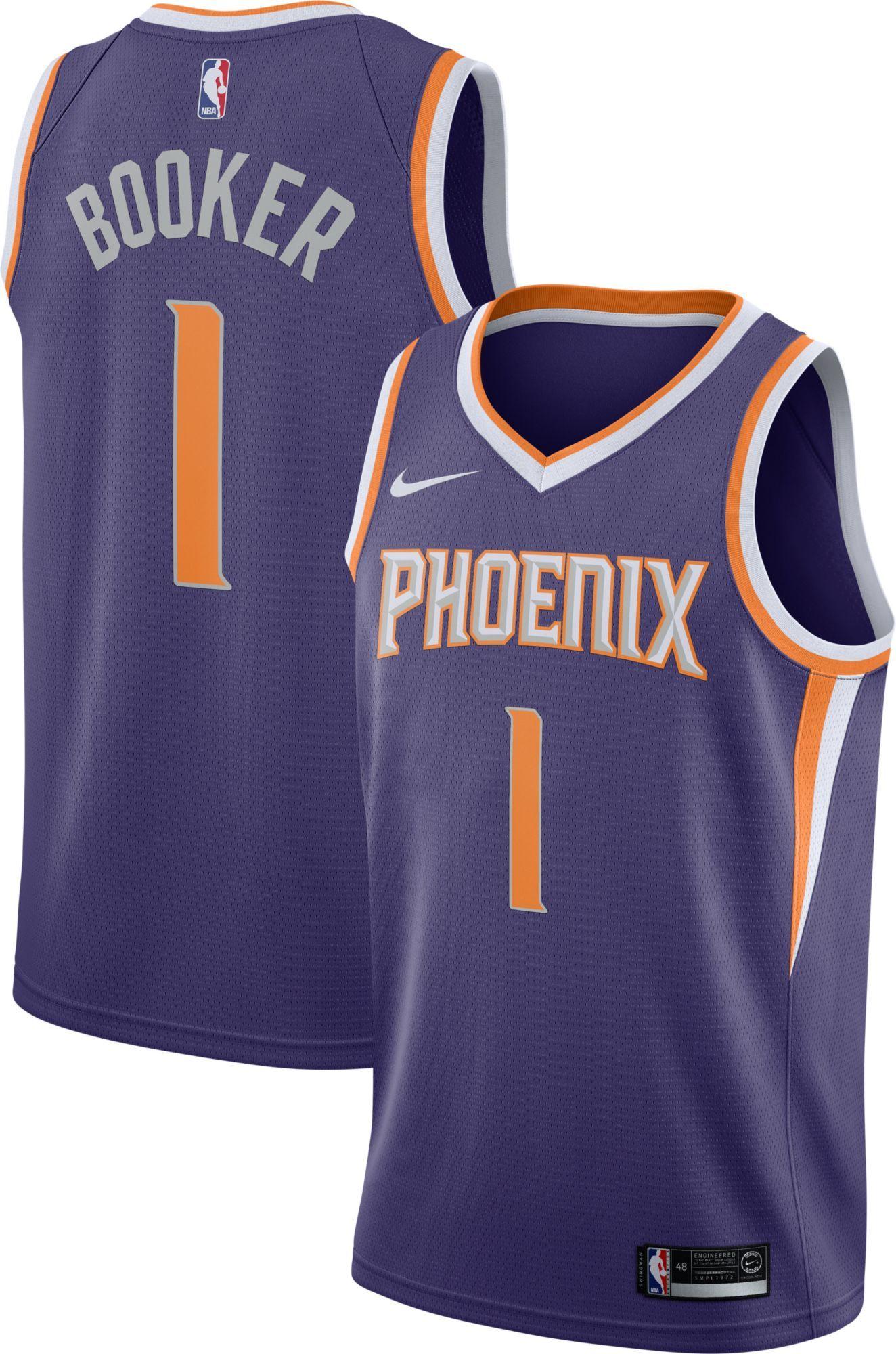 f4333b9c7c85a9 Nike Men s Phoenix Suns Devin Booker  1 Purple Dri-FIT Swingman Jersey