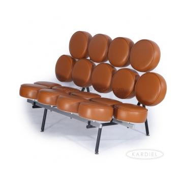 Marshmallow Sofa, Caramel Aniline Leather   Sale for 53% OFF! #leathersofa #homedeals #sale