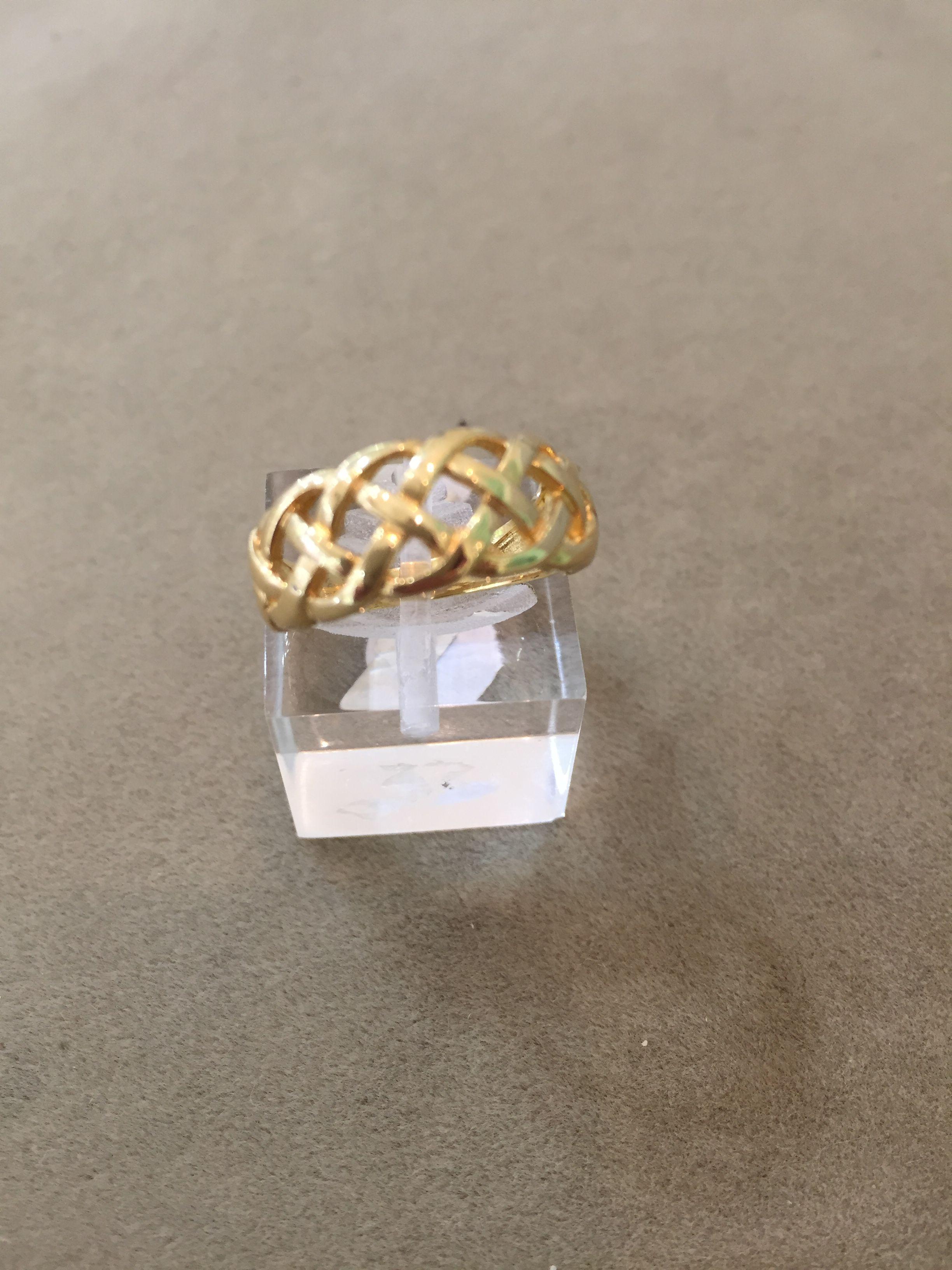 Tono plata trenzado Forma De Serpiente Anillo Tamaño P 1//2