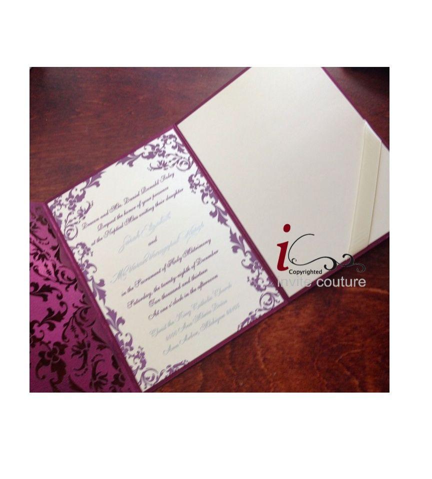 Custom Laser Cut Luxury Wedding Invitations With Gorgeous Die Cut